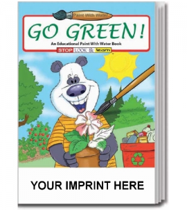 Go Green Paint With Water Activity Book Wholesale Activity Books