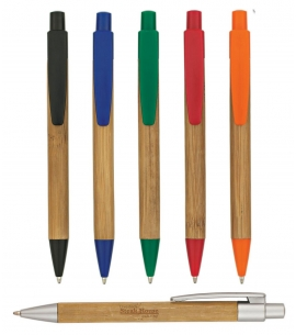 Bamboo Pen | Clicker Pen