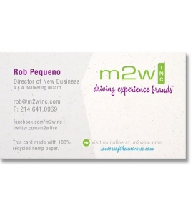 Hemp Business Cards USA Made  Recycled Biodegradable