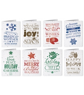 Holiday Card Seed Paper Card Seeded Card Christmas Cards Eco Friendly Christmas Cards