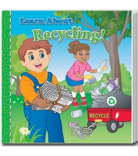 Learn about recycling story book for kids recycling activity book earth day giveaways
