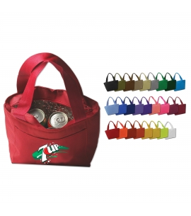 Recycled lunch bag with 6-pack cooler full color