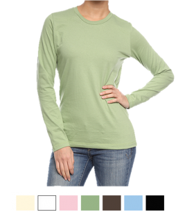 Organic Cotton Long Sleeve Women's T-Shirt | USA Made