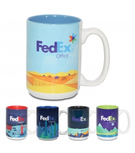 15 oz White Ceramic Mug - Full Color Sublimation