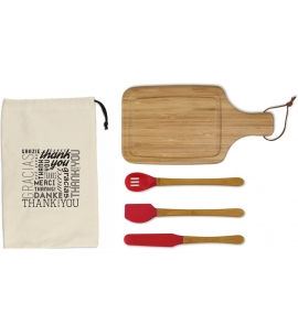 Mini Kitchen Gift Set | Bamboo | Canvas Gift Bag