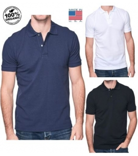 New Unisex Custom Organic USA Made Polo