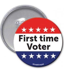 Nonpartisan Campus Sustainability Month Voter Button Recycled USA Made