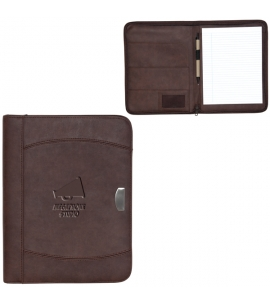 bonded leather notebook portfolio