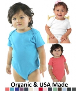 USA Made Certified Organic Cotton Infant One Piece