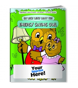 Personalized Coloring Books USA Made Energy Saving Eco Friendly Promo