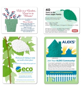 Plantable Invitations Seed Paper Invitations Eco Friendly Invitations Plantable Cards