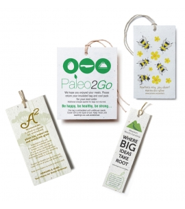 Seeded Plantable Tag | USA Made | Multiple Sizes