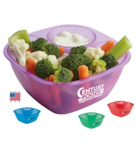 Portion control Snack Bowl Veggie and Dip Bowl