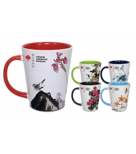 12 oz Two-Tone Ceramic Latte Mug - Full Color Sublimation