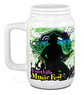 15 oz White Ceramic Mason Mug - Full Color Sublimation