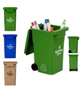 Recycle Bin Pen and Pencil Holder Desktop Organizer