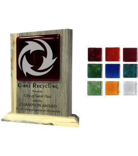 Recycled glass and recycled wood award