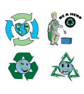 Recycle Symbol Tattoos | USA Made