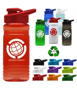 20 oz. Recycled PETE Bottle With Drink-Thru Lid