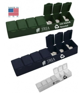 USA made recycled 7 day pill case | custom