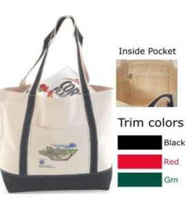 Recycled Cotton Canvas Tote 19x15x6