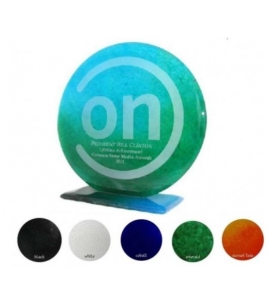 Recycled Glass Award Round Award Eco Friendly awards sustainability awards Eco Awards 10 inch