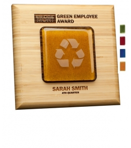 Recycled Award Plaques   Bamboo   Recycled Glass