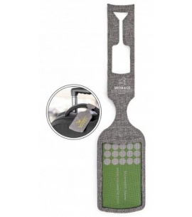 Recycled Gray Custom Luggage Tag