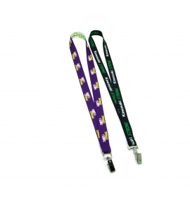 Recycled lanyard USA Made Full Color Bulldog Clip