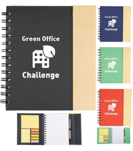 Recycled notebook organizer with pen custom