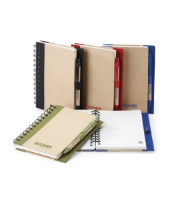 Recycled Notebook and Pen Set Eco Friendly Notebook