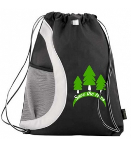 Earth Day Recycled PET Drawstring Backpack