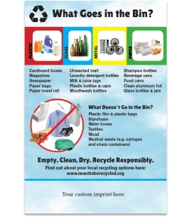 America Recycles tips magnet | recycled magnet