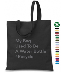Custom Recycled Water Bottle Tote Bag | 14 W x 15 H