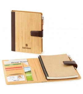 refillable bamboo journal