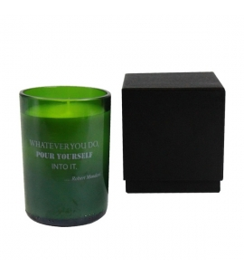 Repurposed Wine Bottle Soy Candle Candle Gifts Personalized Candles