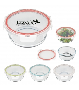 Reusable Glass Round Food Container