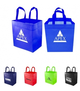 Reusable Grocery Tote USA Made Laminated Wholesale Grocery Bags