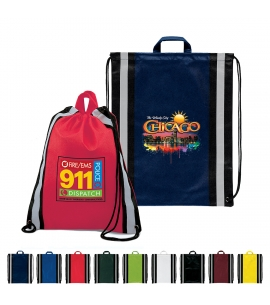 Full Color Recycled Safety Drawstring Backpacks