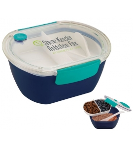 Custom Reusable eco food container with spoon