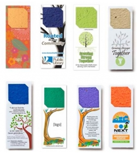 Seed Paper Bookmarks Plantable Bookmarks Eco Friendly Bookmarks