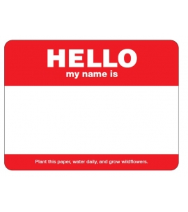 Seed Paper Name Badges Seed Paper Badges Seeded Name badges eco friendly name badges