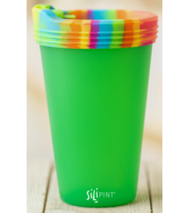 Silipint Silicone Pint Glass | Travel Lid | Reusable | 16 oz