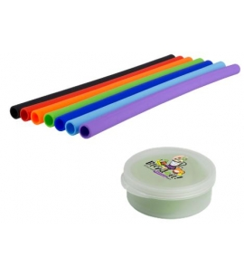 Silicone Straw in Branded Case