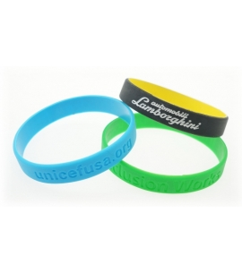 Debossed Silicone Awareness Wristbands | Recycled