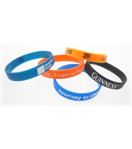 Recycled Silicone Awareness Wristbands