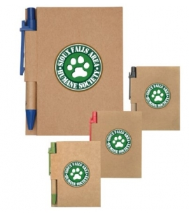 "Pocket Notebook with Pen | Recycled | 3-3/8"" x 4-3/8"""