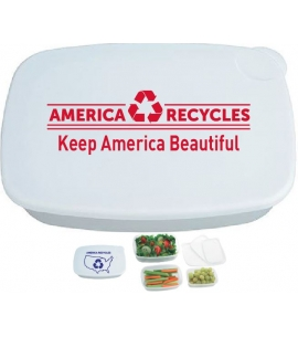 Three containers customizable left overs waste free lunch containers