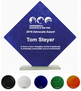 USA Made 10-  Diamond Shape Recycled Glass Award