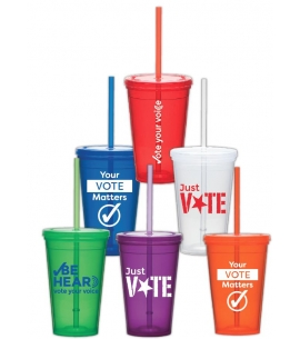 USA made drinkware first time voters promo